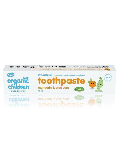 Ekologiška mandarinų skonio dantų pasta vaikams GREEN PEOPLE, 50 ml 2