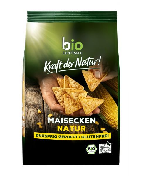 Ekologiški kukurūzų trapučiai trikampiai BIOZENTRALE, 90g