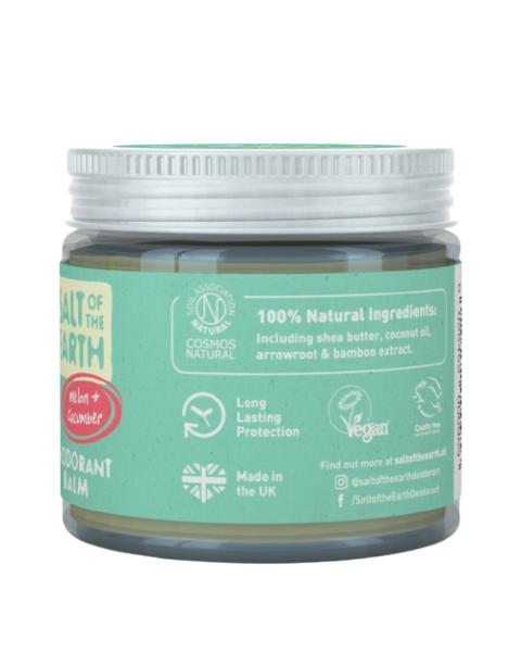 Natūralus tepamas dezodorantas SALT OF THE EARTH su melionais ir agurkais, 60g 3