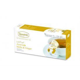 Žolelių arbata Ronnefeldt LeafCup® Ajurveda Herbs & Ginger 15 vnt.