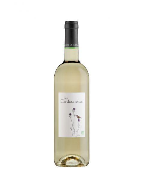 Baltasis sausas rūšinis vynas LES CARDOUNETTES EKOLOGIŠKAS pagamintas Langedoko regione, Prancūzijoje