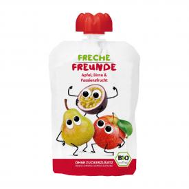 Ekologiška tyrelė FRECHE FREUNDE su obuoliais, kriaušėmis ir pasifloru, nuo 12 mėn., 100g