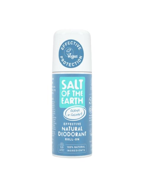 Natūralus rutulinis dezodorantas SALT OF THE EARTH su kokosais ir vandenyno aromatu, 75 ml