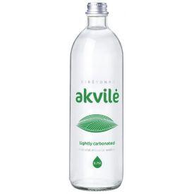 LENGVAI GAZUOTAS natūralus mineralinis vanduo Akvilė, stiklinėje taroje,750ml