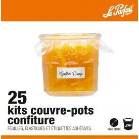 Rinkinys stiklainiams uždengti (plevelės, gumelės ir etiketės) LE PARFAIT, 25 vnt.