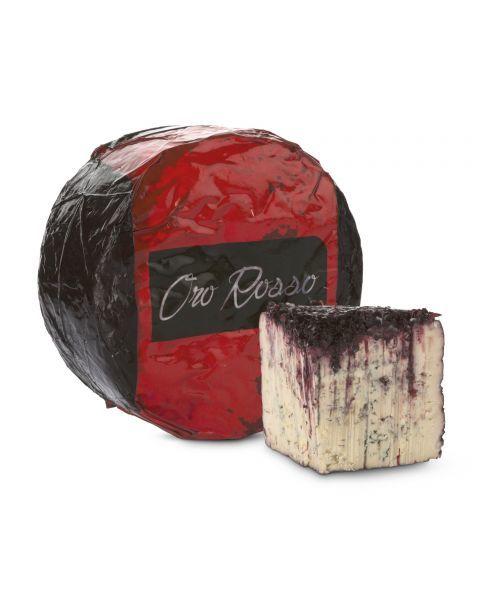 """Mėlynojo pelėsio sūris """"ORO ROSSO"""" vyno ir raudonųjų vaisių apvalkale, brand. 60 dienų, 1 kg"""