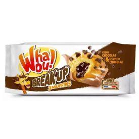 Keksiukai WHAOU su šokoladiniu įdaru, 3x72 g