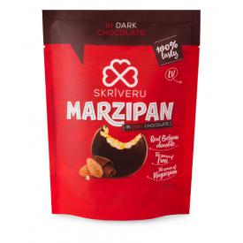 Marcipaniniai saldainiai su juoduoju šokoladu SKRIVERU, 150g