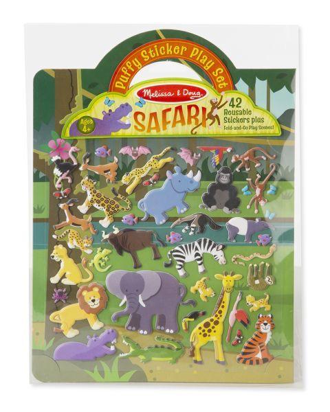 """Daugkartinio naudojimo lipdukų žaidimas MELISSA & DOUG """"Safari"""", 1 vnt."""