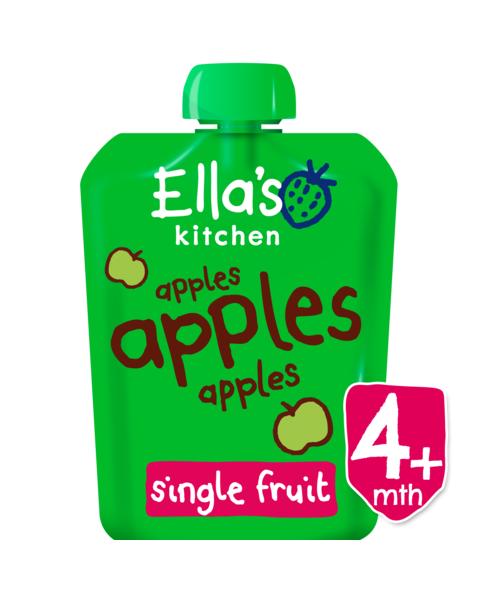 Ekologiška obuolių tyrelė ELLA'S KITCHEN kūdikiams nuo 4 mėn., 90 g
