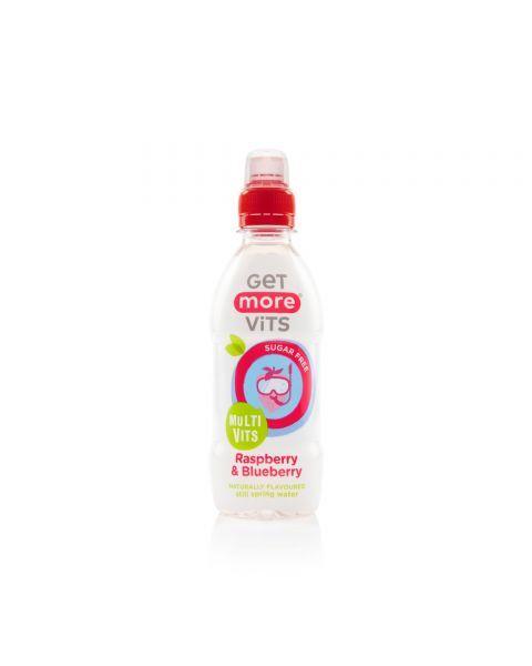Negazuotas vitaminų gėrimas vaikams GET MORE Multivitamins Raspberry & Blueberry, 330ml