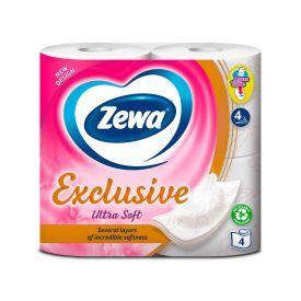 Tualetinis popierius ZEWA Exclusive Ultra Soft (4 sluoksnių), 4 ritinėliai