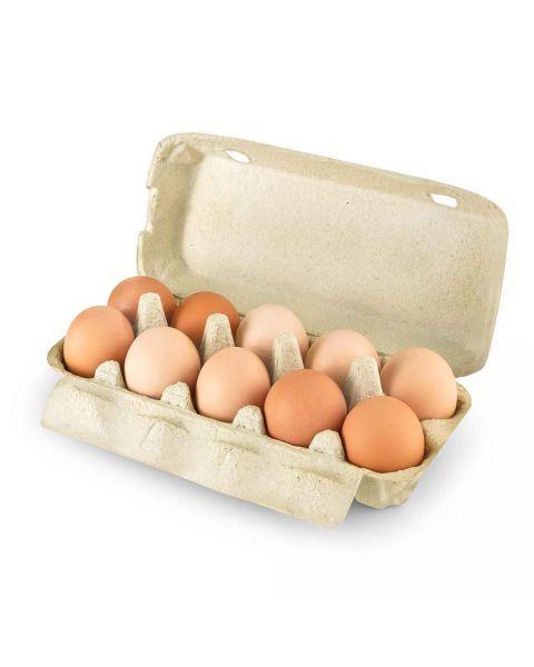 Laisvai laikomų vištų kiaušiniai, 1 dėžutė, 10vnt