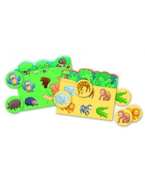 Edukacinis loto žaidimas DJECO Animals (DJ08120), 1 vnt. 2