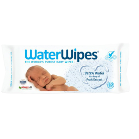 Kūdikių servetėlės WATERWIPES, 60 servetėlių pakuotė