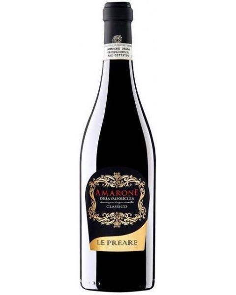 Raudonas vynas Le Preare Amarone della Valpolicella Classico DOCG , 15% tūrio, 0,75 l