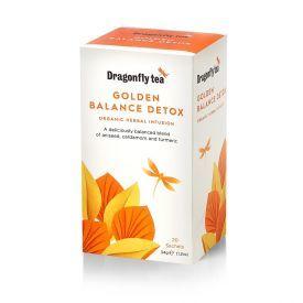 Ekologiška arbata DRAGONFLY TEAS GOLDEN BALANCE DETOX  34g