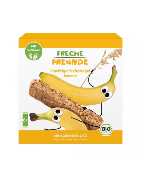 Ekologiški avižų batonėliai FRECHE FREUNDE bananų skonio, 6x30 g