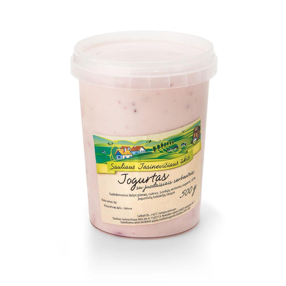 Ūkininko Jasinevičiaus  jogurtas su uogomis, 4% rieb., 500g
