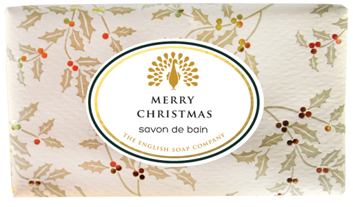 Muilas dovanoms Vintage MERRY CHRISTMAS English Soap, 200 g