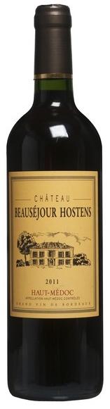 Raudonas sausas vynas CHATEAU Beausejour Hostens,  Haut  Medoc 2011 , 13,5% tūrio, 0,75 l