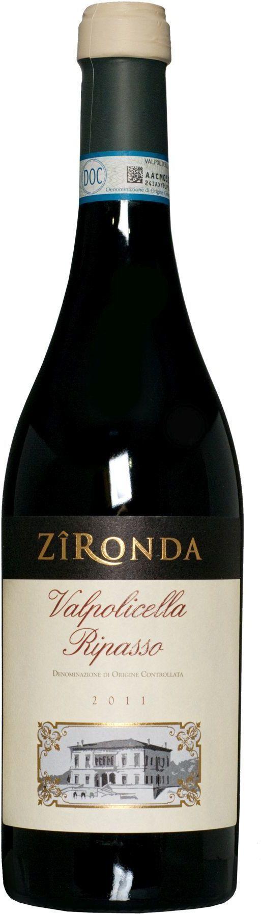 Raudonas vynas Zironda Valpolicella DOC Ripasso, 13,5% tūrio, 0,75 l