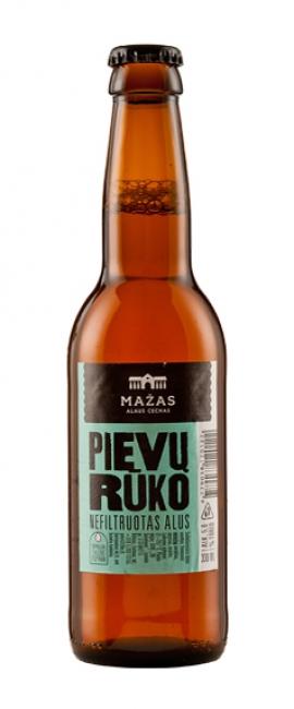NEFILTRUOTAS ALUS PIEVŲ RŪKO Mažas alaus cechas,  5% 0,33L