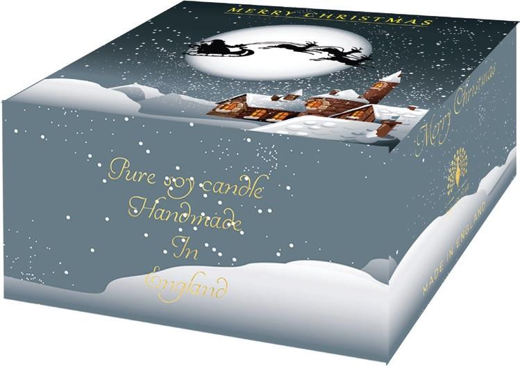 Žvakė dovanoms Winter Village ENGLISH SOAP,didelė, 1 vnt.