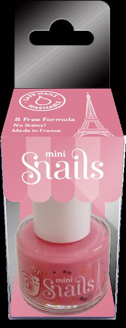Nuplaunamas vandeniu nagų lakas Pasaka Mini vaikams  nuo 3 m. SNAILS, 10,5 ml