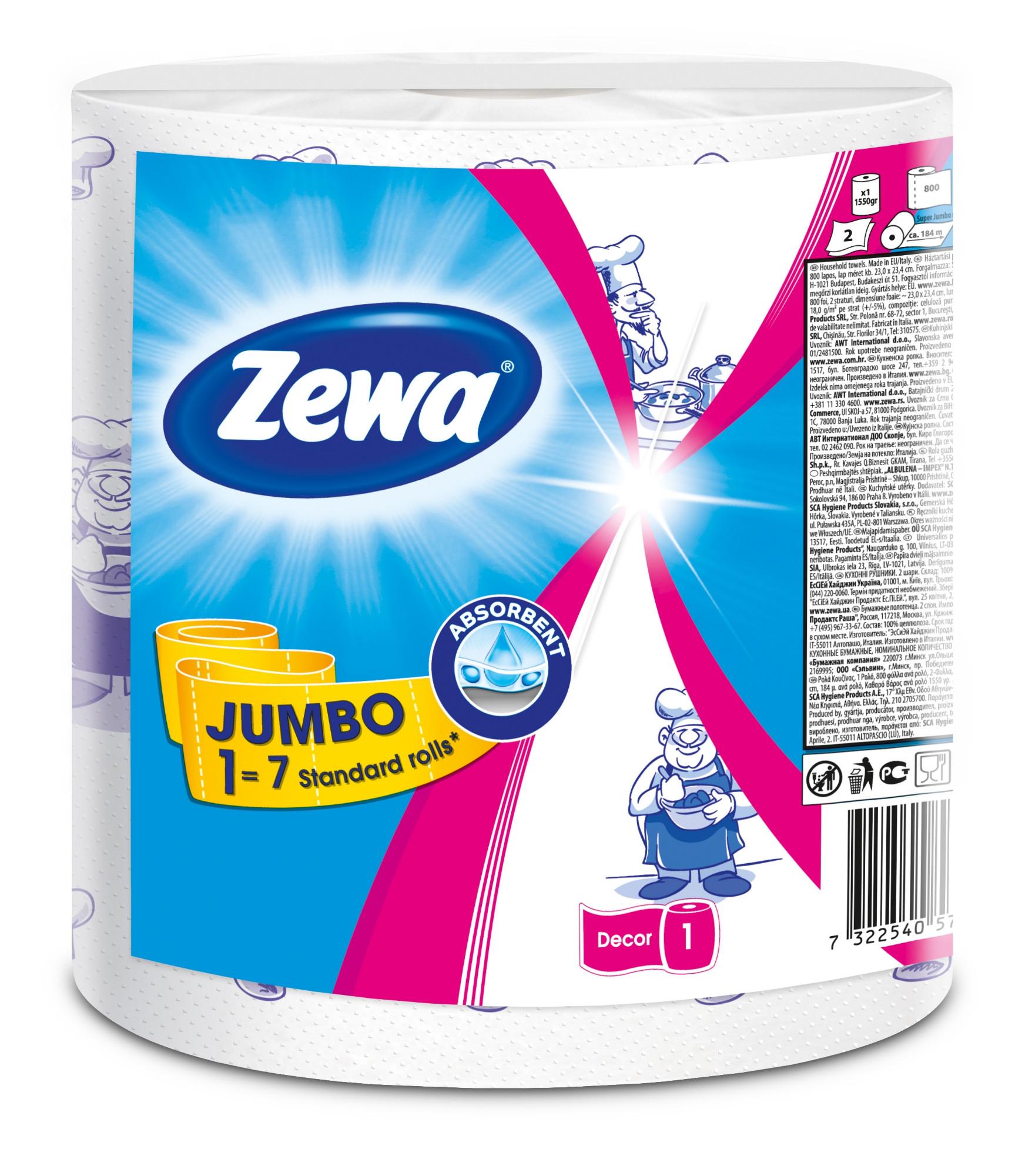 Popieriniai rankšluosčiai Zewa Jumbo Design Klasik, 1 ritinys 325 lapeliai