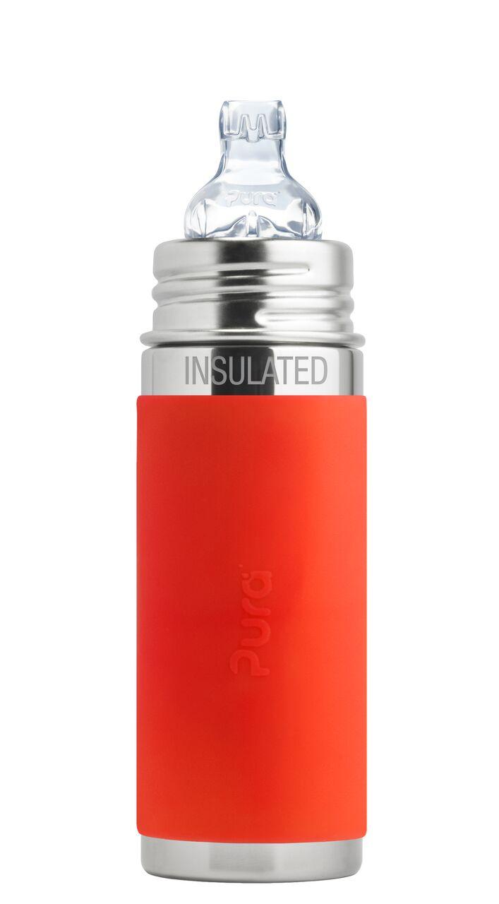 TERMO Buteliukas NAUJAGIMIUI (6m+) su silikonine įmaute, 250 ml PURA KIKI®