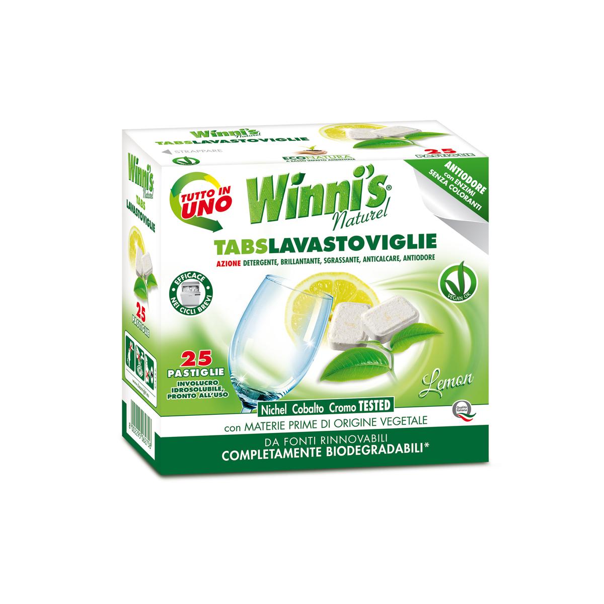Ekologiškas indaplovių tabletės citrusų aromato WINNI'S, 25 vnt