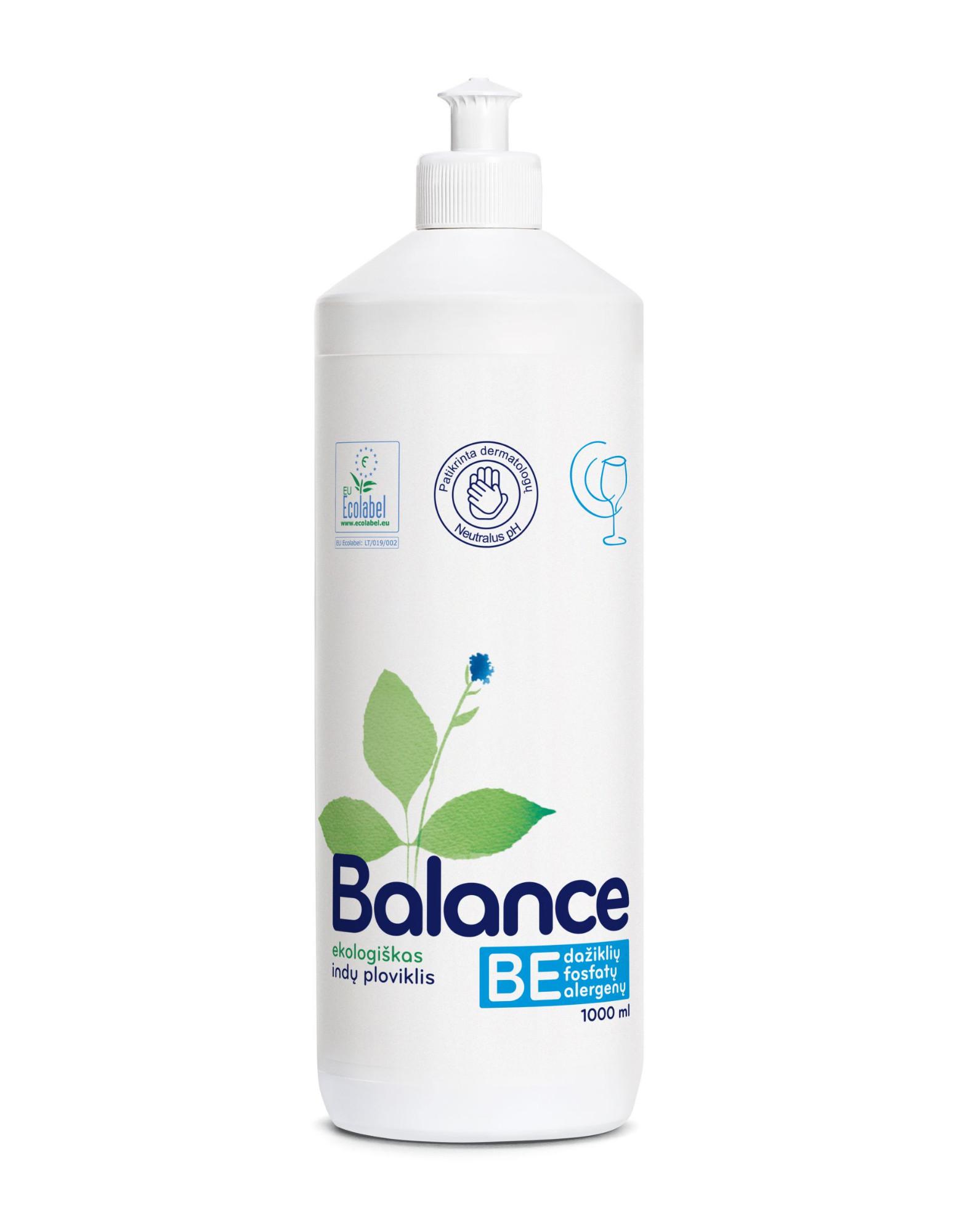 Ekologiškas indų ploviklis BALANCE, 1 L