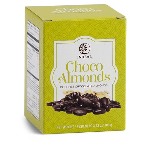 Migdolai glaistyti šokoladu INDEAL 00g