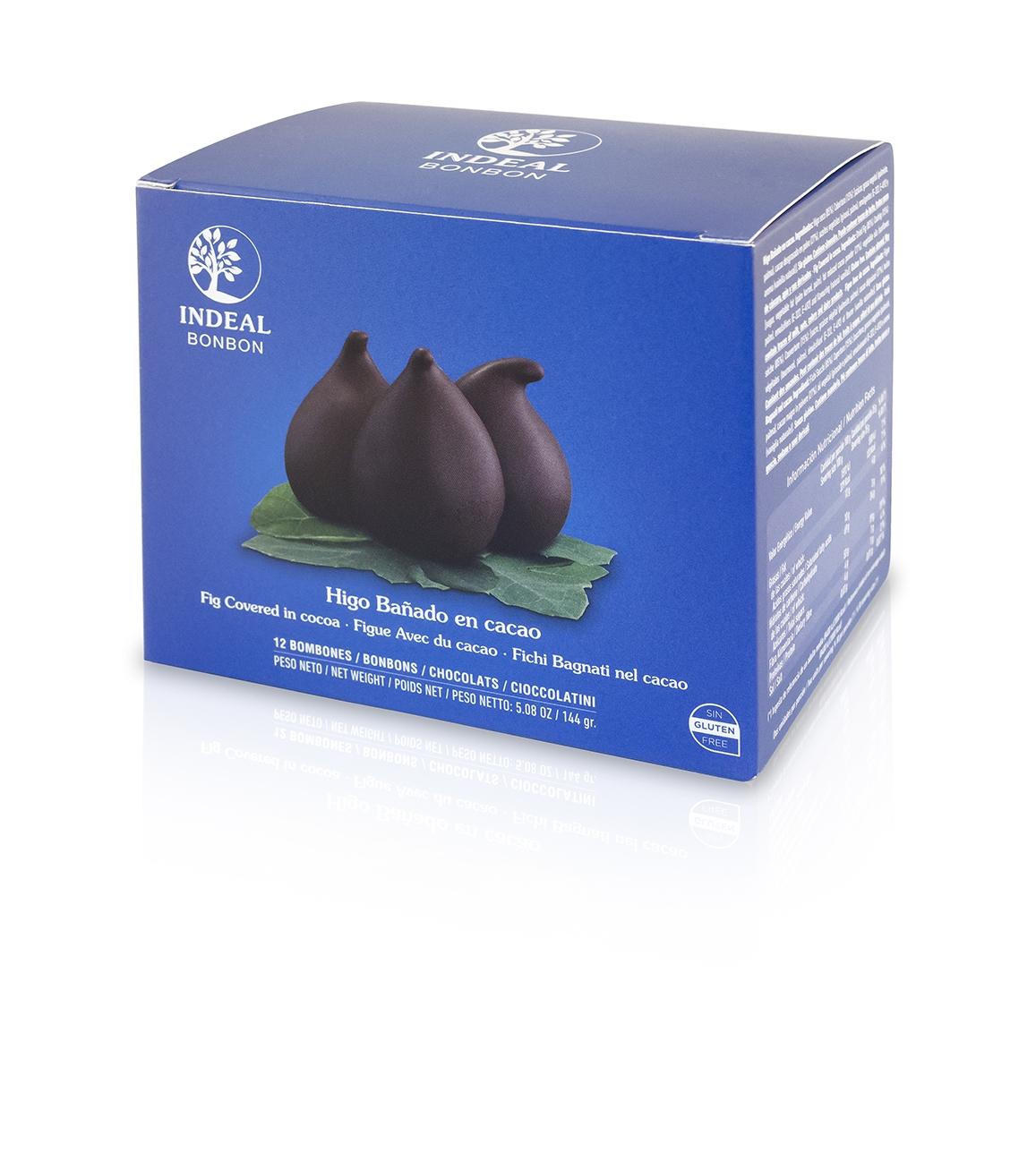 Figos glaistytos šokoladu INDEAL, 144g