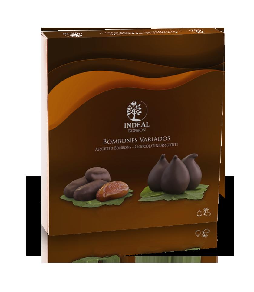 Figos glaistytos šokoladu INDEAL 165g