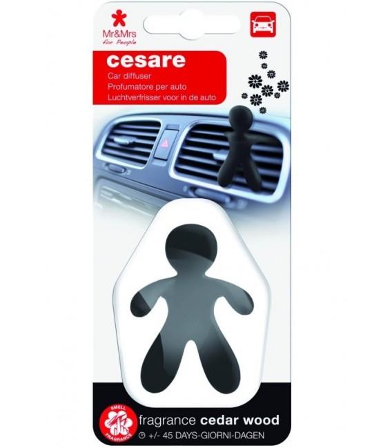 Automobilių oro gaiviklis CESARE plastikinėje pakuotėje – CEDAR WOOD, Mr&Mrs Fragrance