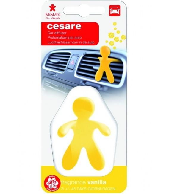 Automobilių oro gaiviklis CESARE plastikinėje pakuotėje – VANILLA, Mr&Mrs Fragrance