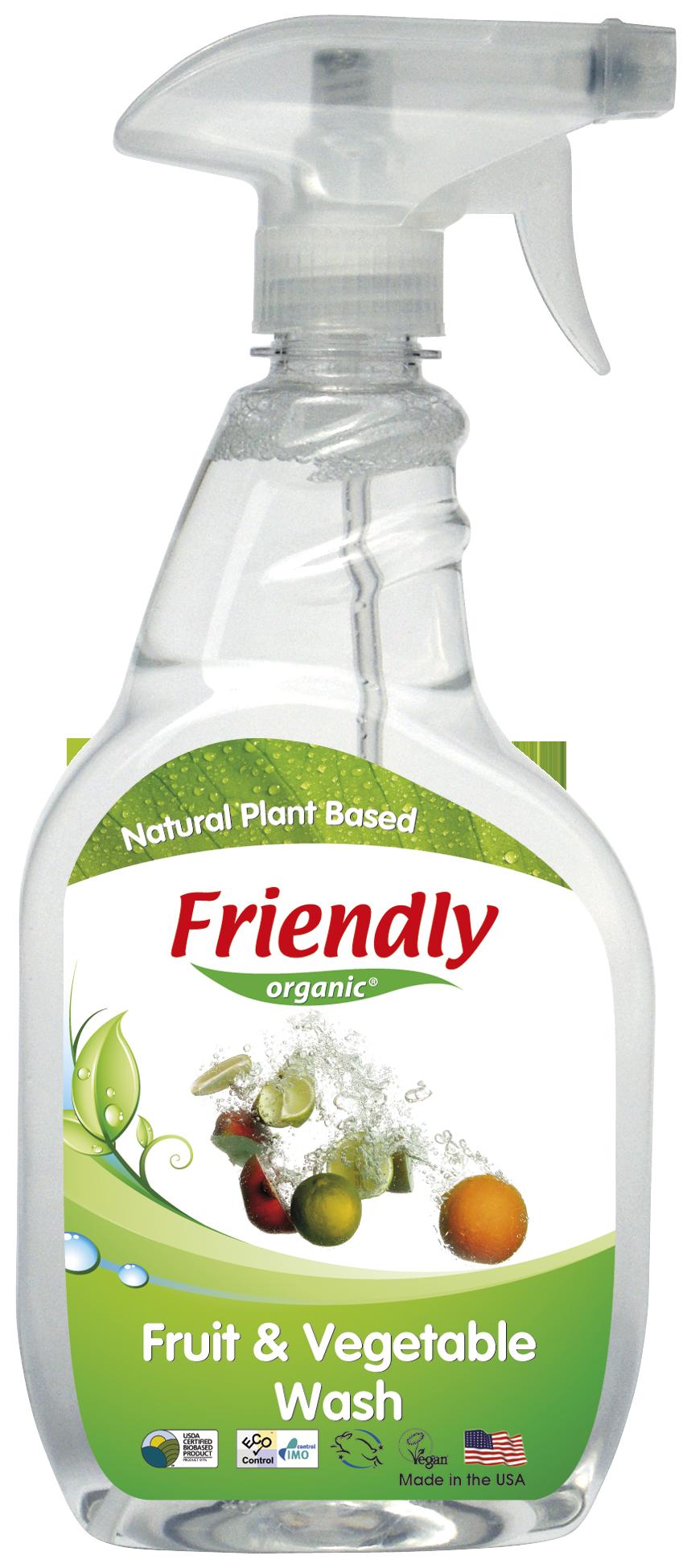 Ekologiškas vaisių ir daržovių ploviklis FRIENDLY ORGANIC, 650ml