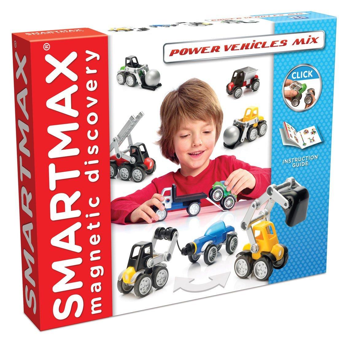 Konstruktorius SMARTMAX Power Vehicles Mix vaikams nuo 3 metų (SMX 303)