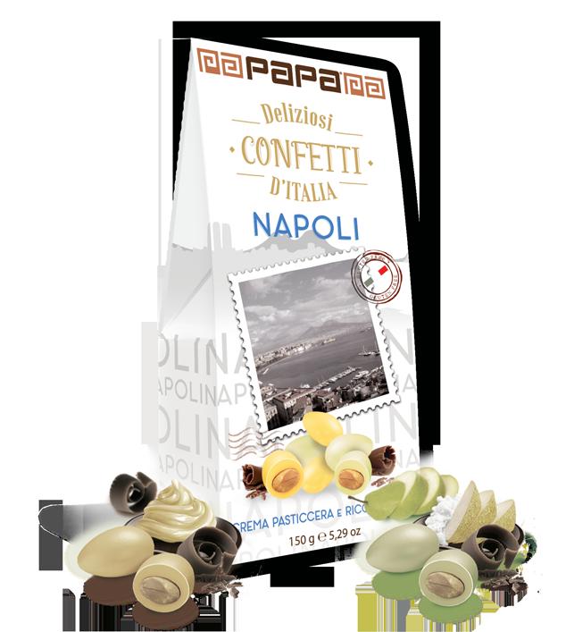 Migdolai PAPA Napoli su saldaus kremo ir ricottos, kriaušių skoniu 150g