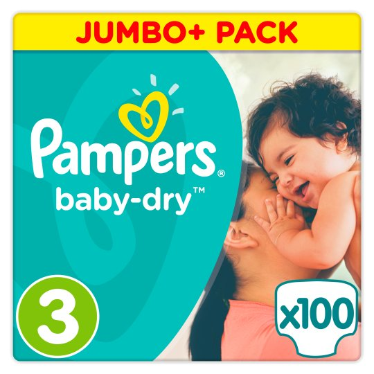 Sauskelnės PAMPERS Baby Dry Nr. 3 Jumbo, 100 vnt.