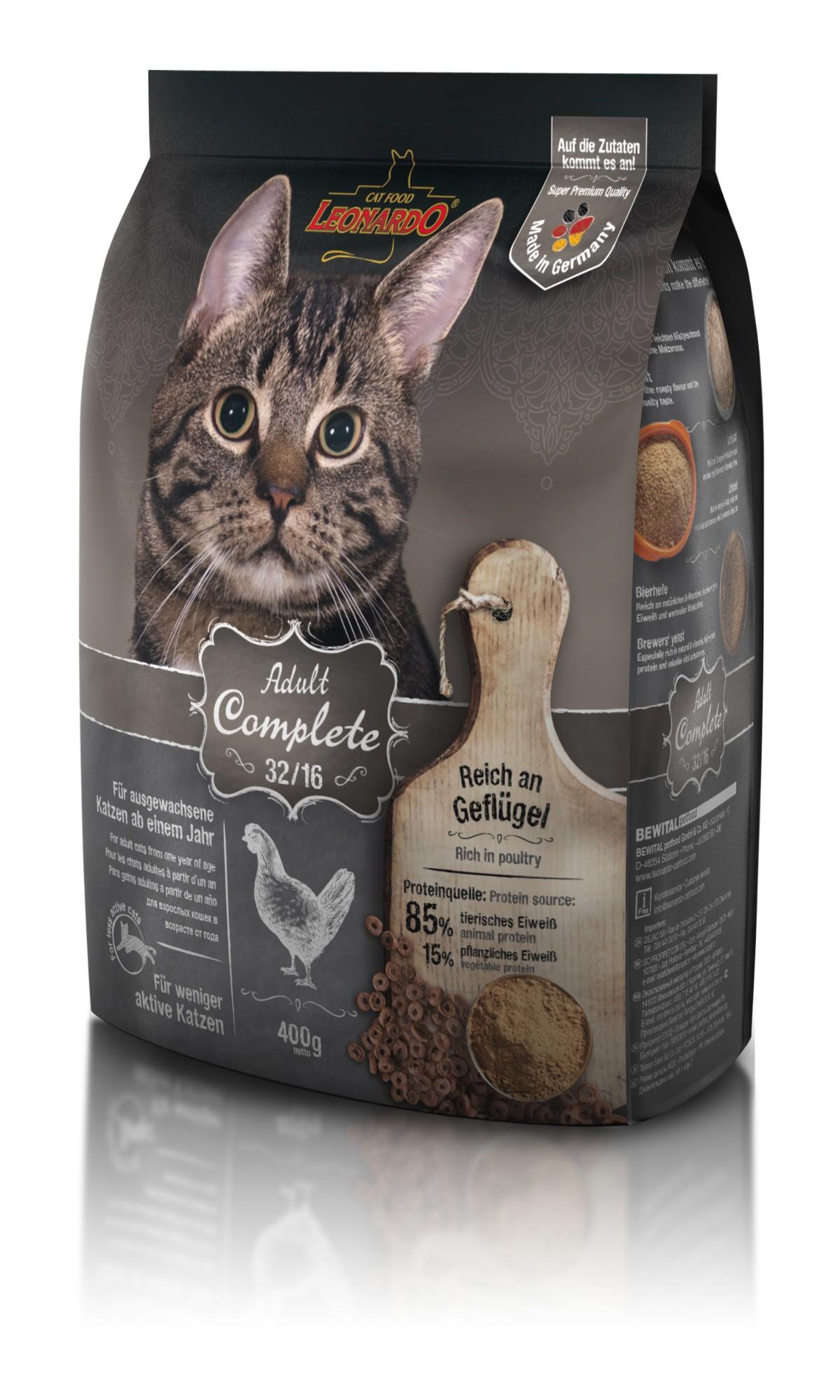 LEONARDO maistas mažo aktyvumo suaugusioms katėms, 0.4 kg