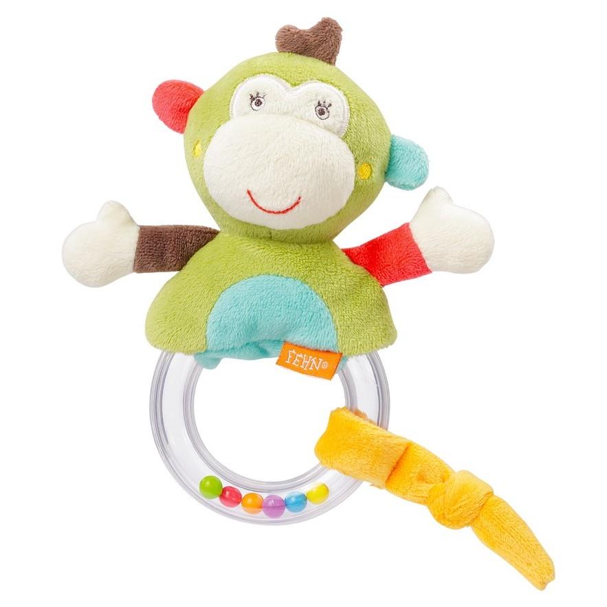 Barškutis BABYFEHN Beždžionėlė vaikams nuo gimimo, 17 cm (74123)