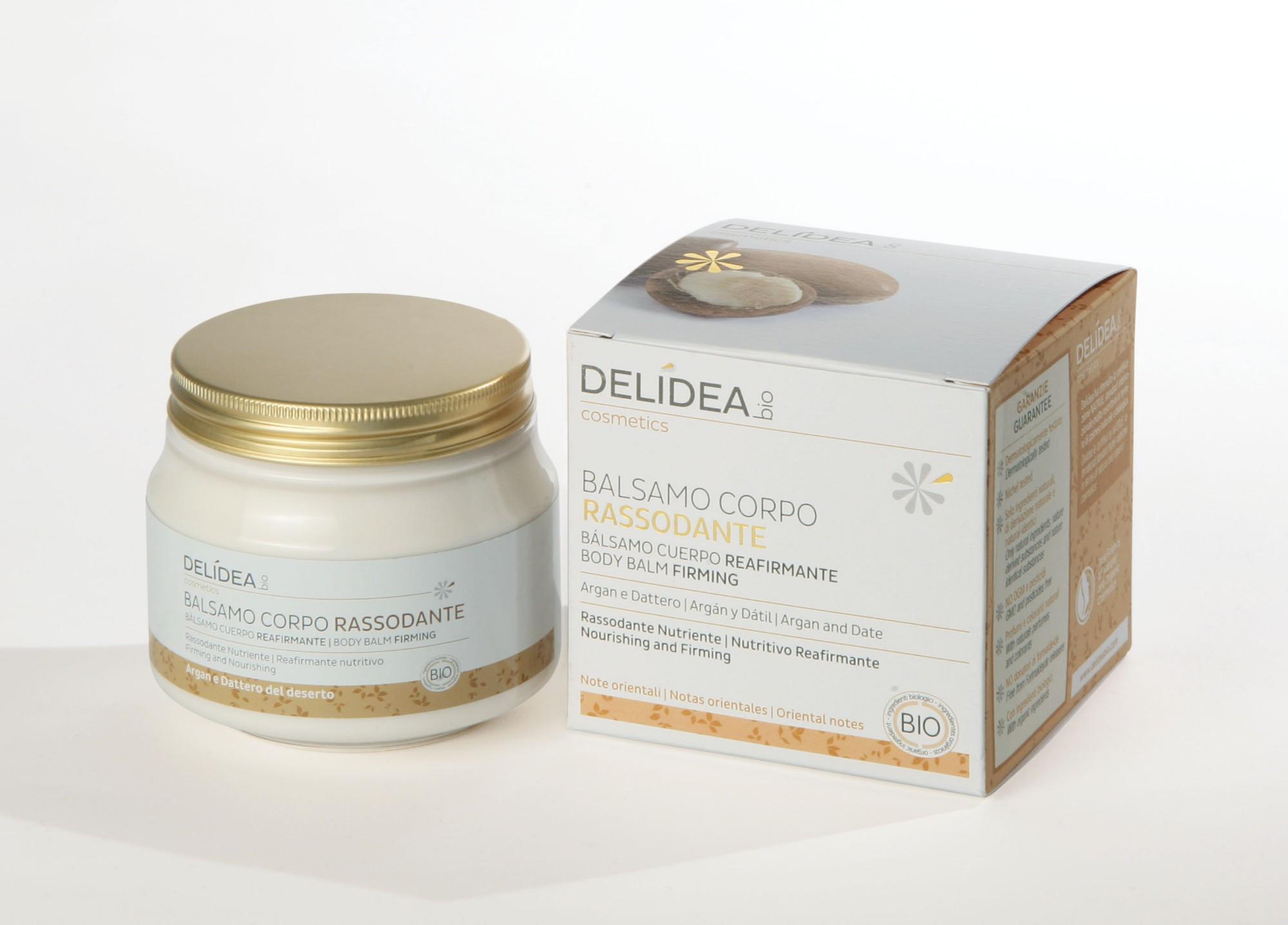 Ekologiškas  stangrinantis ir drėkinantis kūno sviestas DELIDEA BIO su argano aliejumi,  200 ml