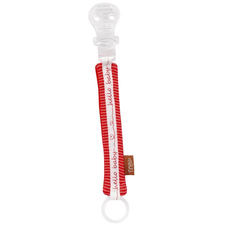 Raudonas čiulptuko laikiklis BABYFEHN vaikams nuo gimimo, 21 cm (67576)