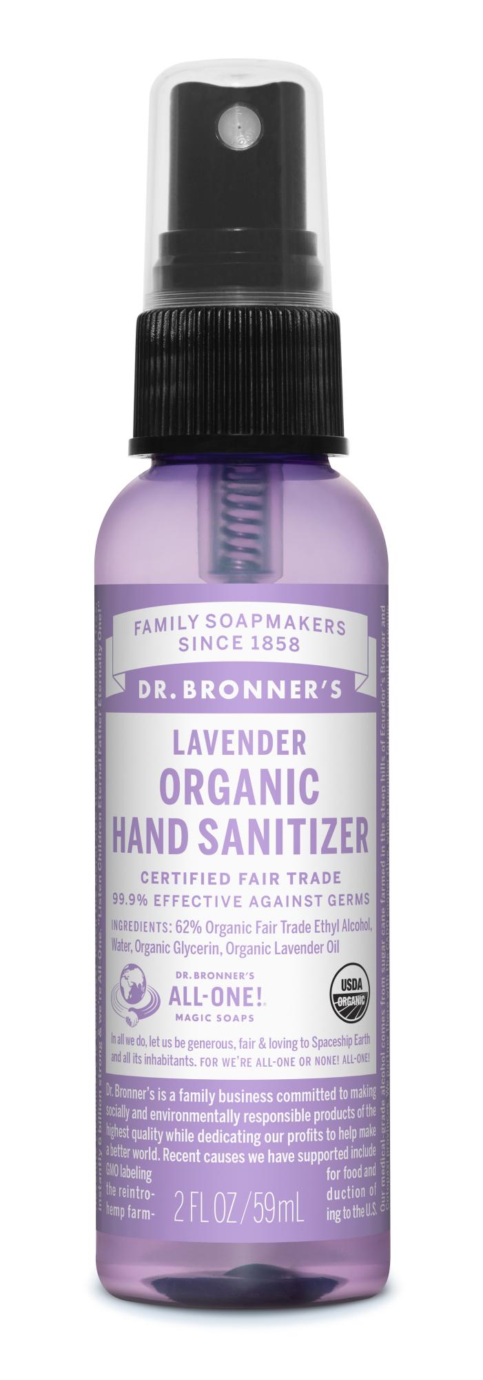 Ekologiškas dezinfekatorius DR. BRONNER'S Levander, 59 ml