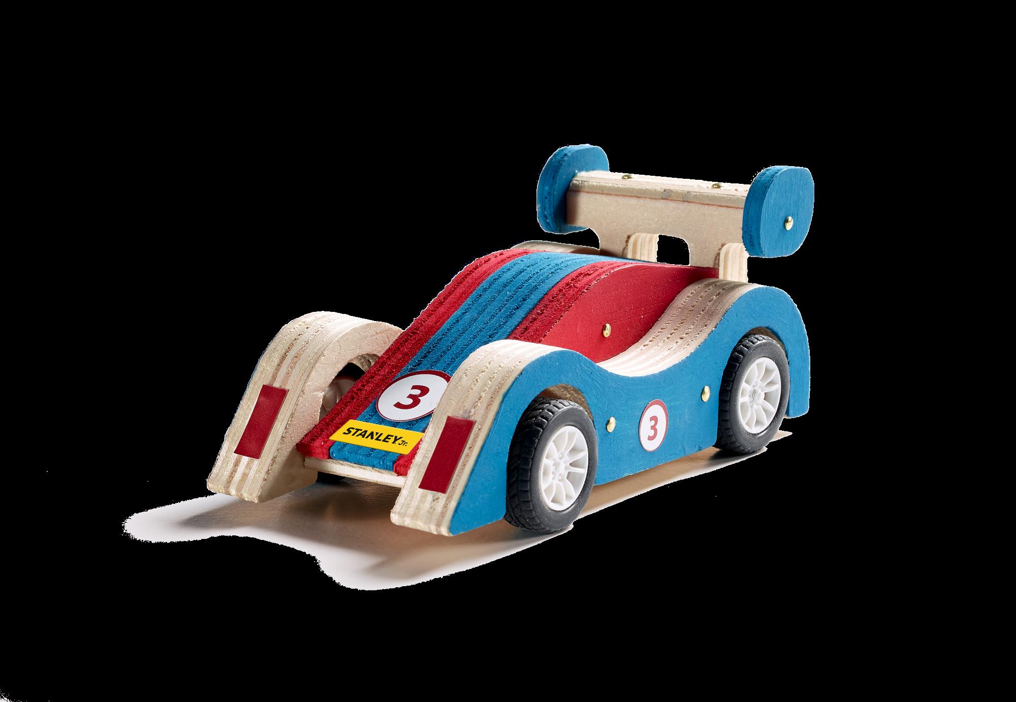 Kūrybos rinkinys STANLEY Lenktyninis automobilis vaikams nuo 5 metų