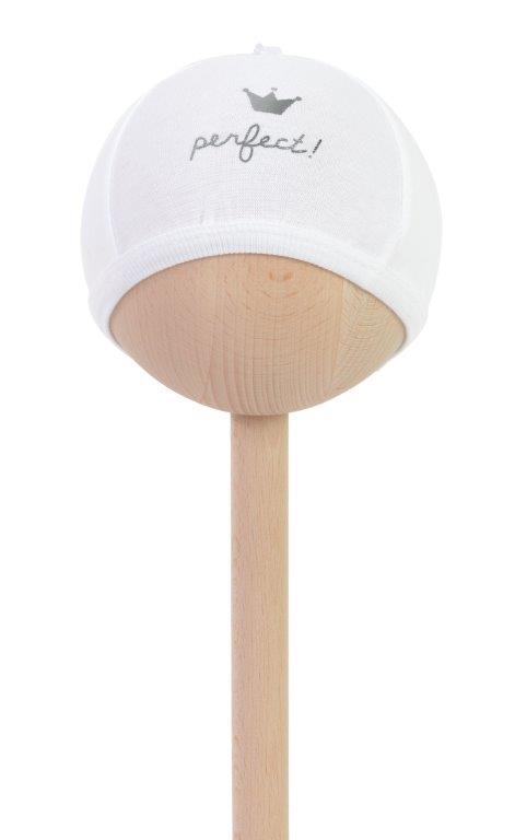 Balta kepurytė Perfect naujagimiui 50/56 cm BAM BAM, 1 vnt