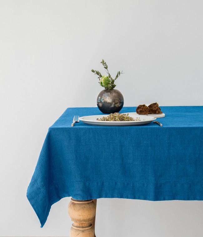Staltiesė LINEN TALES BLUE, 140×200 cm